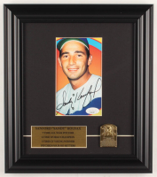 Sandy Koufax Signed Dodgers 11x12.5 Custom Framed Photo Display With Bronze HOF Plaque (JSA COA) at PristineAuction.com