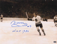 "Bobby Hull Signed Blackhawks 11x14 Photo Inscribed ""HOF 1983"" (Schwartz COA) at PristineAuction.com"