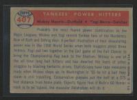 Mickey Mantle / Yogi Berra 1957 Topps #407 Yankees Power Hitter at PristineAuction.com