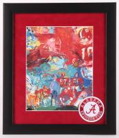 "LeRoy Neiman ""Alabama Football"" 13x15 Custom Framed Print Display with Alabama Patch at PristineAuction.com"