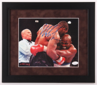 Mike Tyson Signed 13x15 Custom Framed Photo Display (JSA COA) at PristineAuction.com