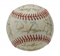 1979 Phillies ONL Baseball Team-Signed by (17) with Pete Rose, Steve Carlton, Tug McGraw (Beckett LOA) at PristineAuction.com