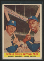 Mickey Mantle / Hank Aaron 1958 Topps #418 World Series Batting Foes at PristineAuction.com