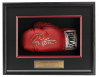 George Foreman Signed 18x19x4 Custom Framed Boxing Glove Shadowbox Display (JSA COA) at PristineAuction.com