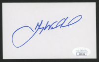 Gary Woodland Signed 3x5 Index Card (JSA COA) at PristineAuction.com