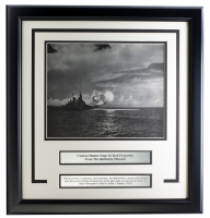 "Battleship Missouri ""16"" Projectiles"" 17x18 Custom Framed Photo Display at PristineAuction.com"
