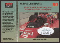 Mario Andretti Signed 1992 Collect-A-Card Andretti Racing #90 (JSA COA) at PristineAuction.com