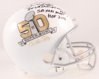Jerry Rice Signed Super Bowl 50 Full-Size Helmet with Multiple Career Stat Highlight Inscriptions (PSA COA) at PristineAuction.com