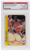 Michael Jordan 1986-87 Fleer Stickers #8 (PSA 8) (OC) at PristineAuction.com