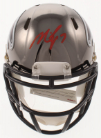 Michael Vick Signed Falcons Chrome Speed Mini Helmet (JSA COA) at PristineAuction.com