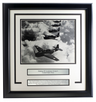 U.S. Navy Echelon of Grumman Avengers 17x18 Custom Framed Photo Display at PristineAuction.com