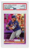 Pete Alonso 2019 Topps Chrome Pink Refractors #204 (PSA 10) at PristineAuction.com