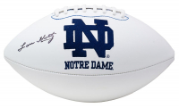 Lou Holtz Signed Notre Dame Fighting Irish Logo Football  (JSA COA) at PristineAuction.com
