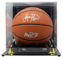 Magic Johnson & Larry Bird Signed NBA Game Ball Series Basketball with High-Quality Display Case (Beckett COA) at PristineAuction.com