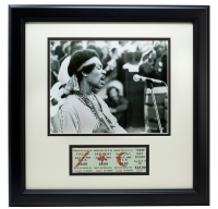 Jimi Hendrix 11x14 Custom Framed Photo Display with Full 3 Day Woodstock Ticket at PristineAuction.com