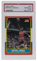 Michael Jordan 1986-87 Fleer #57 RC (PSA 8) (OC) at PristineAuction.com