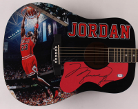 "Michael Jordan Signed 41"" Acoustic Guitar (PSA Hologram) at PristineAuction.com"