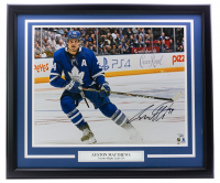 Auston Matthews Signed Maple Leafs 22x27 Custom Framed Photo Display (Fanatics Hologram) at PristineAuction.com