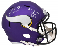 """Cris Carter Signed Vikings Full-Size Speed Helmet Inscribed """"All I Do Is Catch TD's"""" (PSA COA) at PristineAuction.com"""