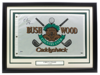 "Chevy Chase Signed ""Caddyshack"" Bushwood Country Club 20x28 Custom Framed Pin Flag Display (Beckett COA) at PristineAuction.com"