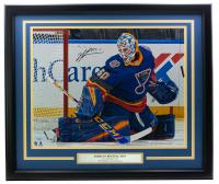 Jordan Binnington Signed Blues 16x20 Custom Framed Photo Display (Fanatics Hologram) at PristineAuction.com