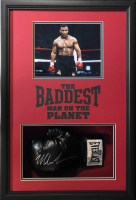 Mike Tyson Signed 19.5x28.5x6 Custom Framed Boxing Glove Shadowbox Display (JSA COA) at PristineAuction.com