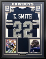 Emmitt Smith Signed 34.5x42.5 Custom Framed Jersey (Beckett COA & PROVA COA) at PristineAuction.com