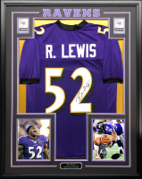 Ray Lewis Signed 34.5x42.5 Custom Framed Jersey (JSA COA) at PristineAuction.com
