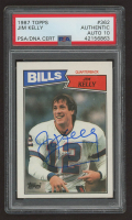 Jim Kelly Signed 1987 Topps #362 RC (PSA Encapsulated) at PristineAuction.com