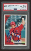 Mike Trout Signed 2010 Topps Pro Debut #181 (PSA 6) at PristineAuction.com