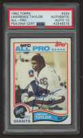 Lawrence Taylor Signed 1982 Topps #434 RC (PSA Encapsulated) at PristineAuction.com