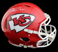Frank Clark Signed Chiefs Full-Size Authentic On-Field Speed Helmet (Radtke COA) at PristineAuction.com