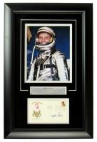 John Glenn Signed 16x24 Custom Framed FDC Envelope Display (JSA COA) at PristineAuction.com