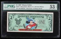 1997 Disney Dollar $1 Disney World - Sorcerer Mickey (PMG 53) (EPQ) at PristineAuction.com