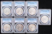 Lot of (7) Morgan Silver Dollars (PCGS MS63) at PristineAuction.com