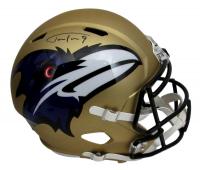 Justin Tucker Signed Ravens Full-Size AMP Alternate Speed Helmet (JSA COA) at PristineAuction.com