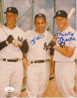 Mickey Mantle & Yogi Berra Signed Yankees 8x10 Photo (JSA LOA) at PristineAuction.com