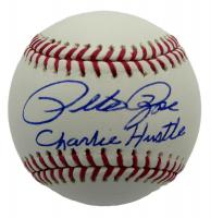 """Pete Rose Signed OML Baseball Inscribed """"Charlie Hustle"""" (JSA COA) at PristineAuction.com"""