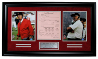 Woody Hayes Signed Ohio State Buckeyes 18x31 Custom Framed Photo Display (JSA COA) at PristineAuction.com
