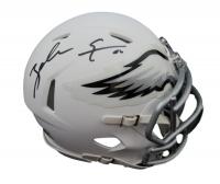Zach Ertz Signed Eagles Matte White Speed Mini Helmet (JSA COA) at PristineAuction.com