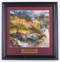 "Thomas Kinkade Walt Disney's ""Bambi"" 16.5x17 Custom Framed Print Display at PristineAuction.com"