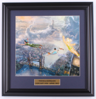 "Thomas Kinkade Walt Disney's ""Peter Pan"" 16.5x17 Custom Framed Print Display at PristineAuction.com"