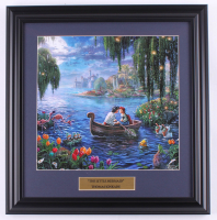 "Thomas Kinkade Walt Disney's ""The Little Mermaid"" 16.5x17 Custom Framed Print Display at PristineAuction.com"