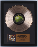"The Beatles 15.75x19.75 Custom Framed Gold Plated ""Let It Be"" Record Album Award Display at PristineAuction.com"