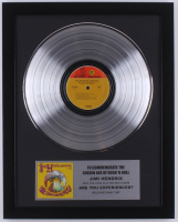 "Jimi Hendrix 15.75x19.75 Custom Framed Silver Plated ""Are You Experienced?"" Record Album Award Display at PristineAuction.com"