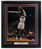 Dwayne Wade Signed Heat 16x20 Custom Framed Photo Display (Fanatics Hologram) at PristineAuction.com