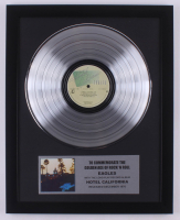 """The Eagles 15.75x19.75 Custom Framed Silver Plated """"Hotel California"""" Record Album Award Display at PristineAuction.com"""