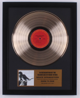 """Bruce Springsteen 15.75x19.75 Custom Framed Gold Plated """"Born to Run"""" Record Album Award Display at PristineAuction.com"""