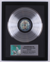 "Queen 15.75x19.75 Custom Framed Silver Plated ""News of the World"" Record Album Award Display at PristineAuction.com"