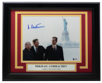 Mikhail Gorbachev Signed 11x14 Custom Framed Photo Display (Beckett LOA) at PristineAuction.com